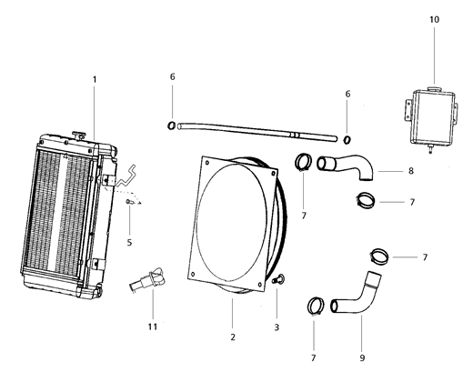 COOLING SYSTEM PARTS FOR 7520 MAHINDRA TRACTOR