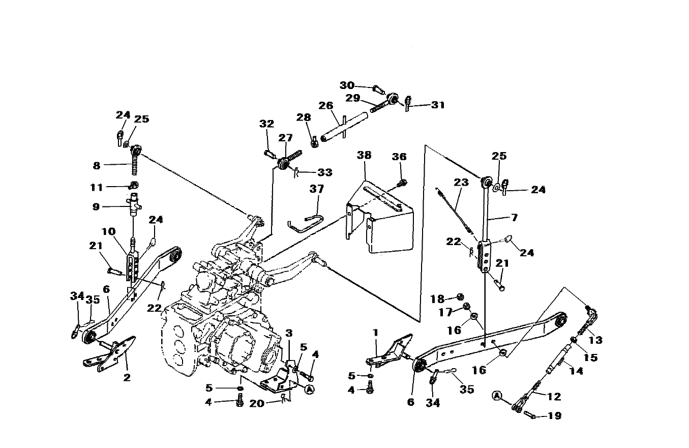 3-POINT LIFT PARTS FOR 2816 MAHINDRA TRACTOR