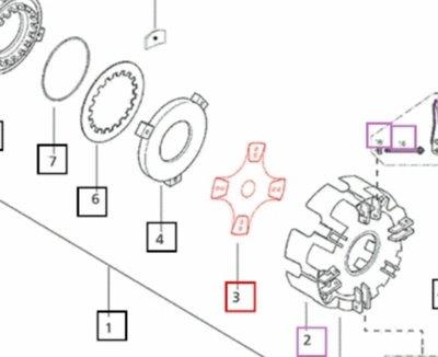 CLUTCH PARTS FOR 4530 MAHINDRA TRACTOR