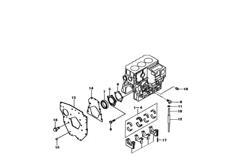 small resolution of gasket for rear engine oil seal on 2816 mahindra tractor 31a0711701