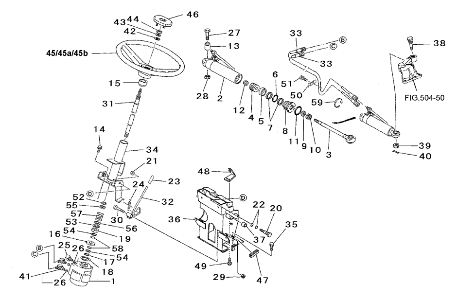 Ford 3000 Tractor Power Steering Diagram