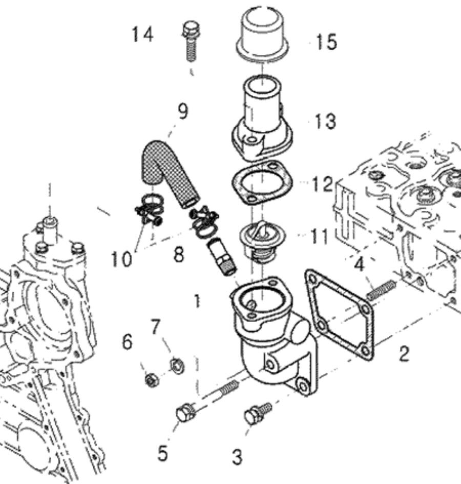 COOLING SYSTEM PARTS FOR 4110 MAHINDRA TRACTOR