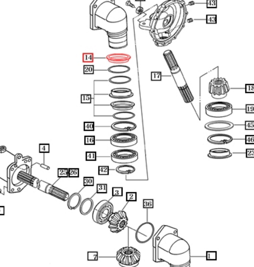STEERING PARTS FOR 4110 MAHINDRA TRACTOR