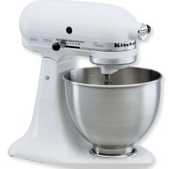 White Kitchen Aid Sink Soap Dispenser Kitchenaid Ksm75wh Classic Plus Tilt Head 4 1 2 Quart Stand Mixer
