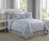 11 Piece Wisdom Gray/Gold Bed in a Bag Set