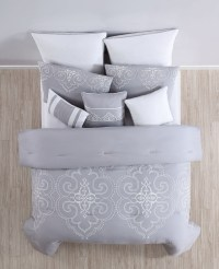 12 Piece Camellia Gray Bed in a Bag Set