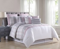 14 Piece Nelima Blush/Gray/White Reversible Bed in a Bag Set