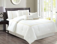 7 Peace Zamella White Comforter Set