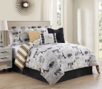 7 Piece Oh-La-La Reversible Comforter Set