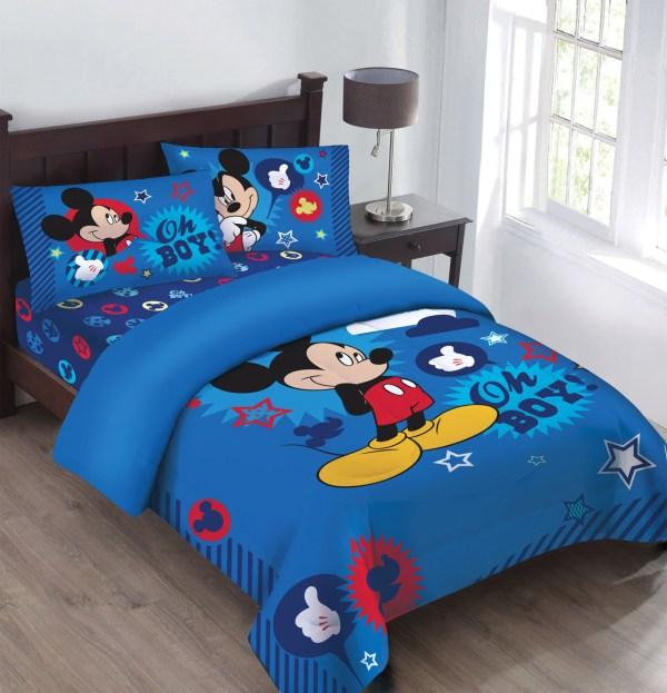 Disney Mickey Boy Gosh Licensed Comforter Set Withfitted