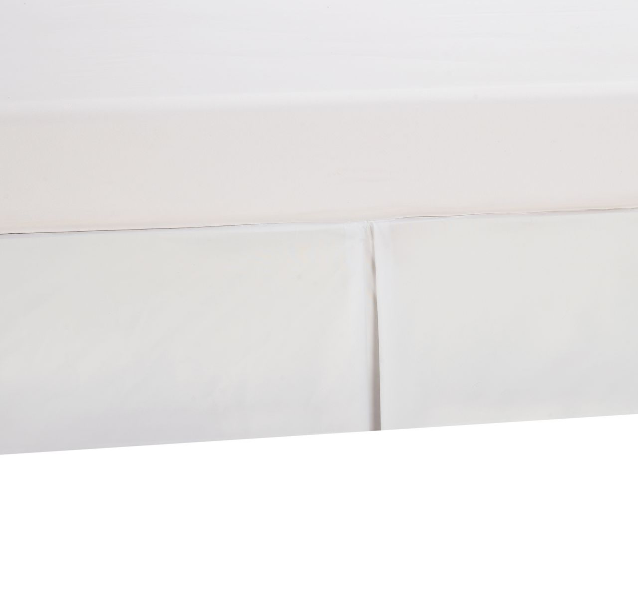 Pleated Bed Skirt White