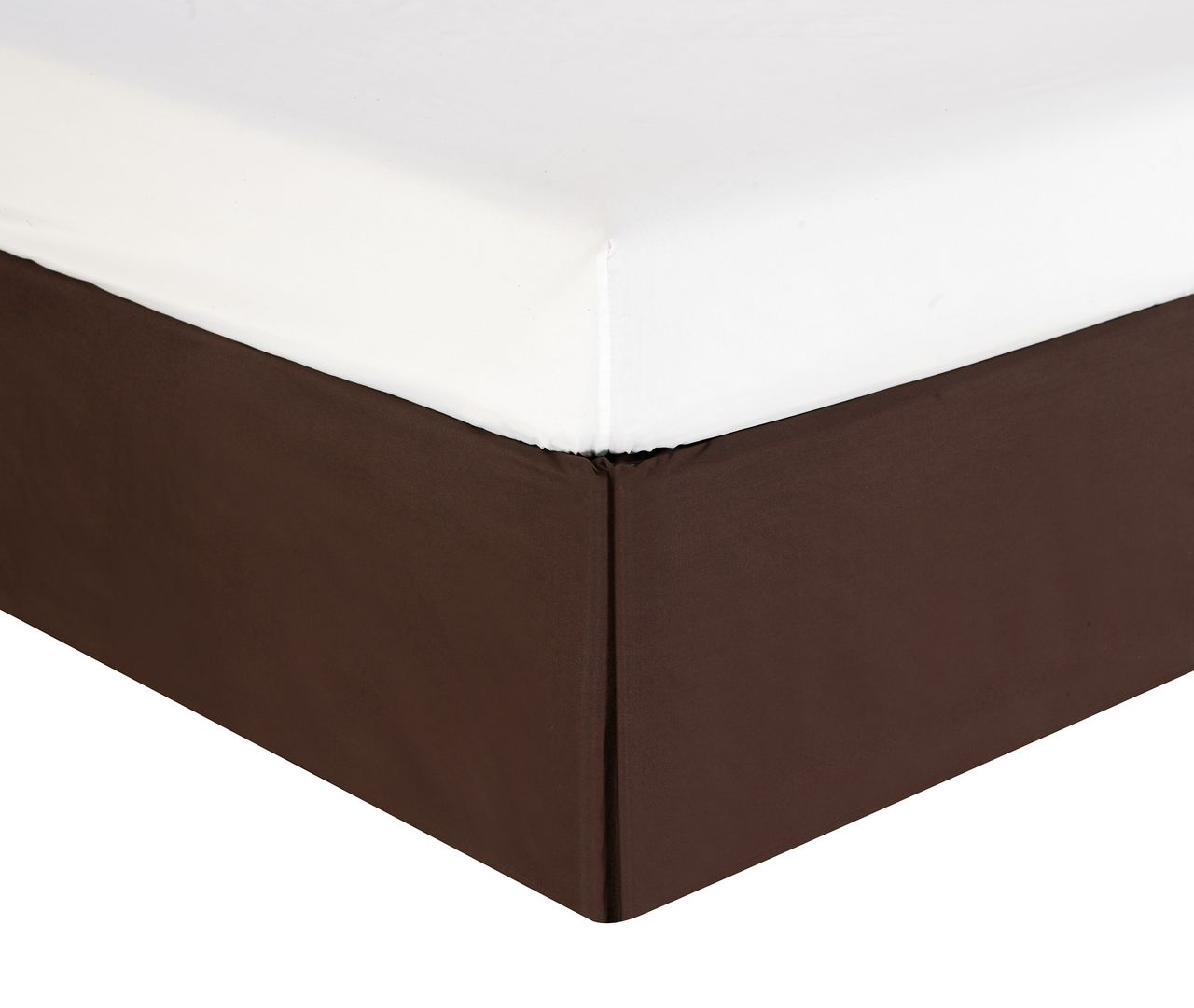 Pleated Bed Skirt Coffee