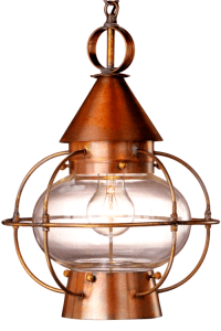 Cape Cod Onion Electric Copper Lantern Hanging Pendant Light