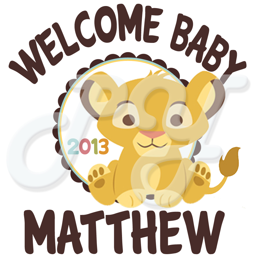 Lion King Baby Shower Personalized tshirt