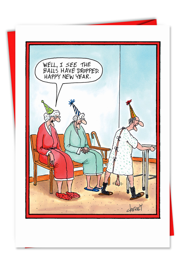 Funny New Years Pics : funny, years, Balls, Dropped, Cartoon, Years, Cheney