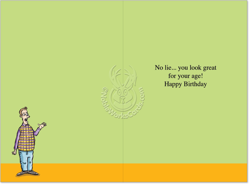 Compulsive Liars Birthday Funny Card