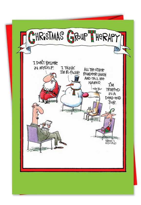 Christmas Group Therapy Funny Card NobleWorks Cards