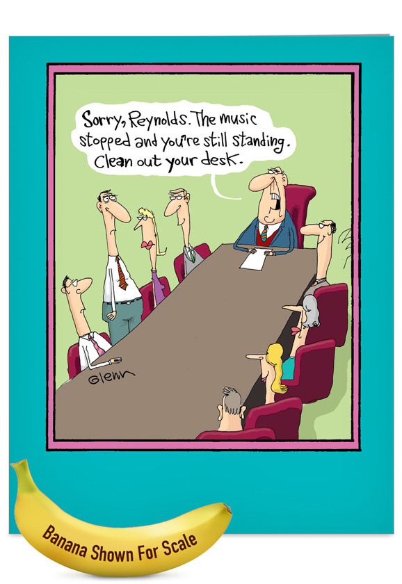 musical chairs retirement card