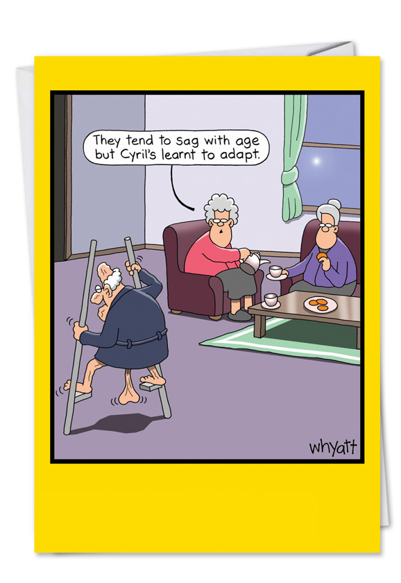 Stilts Nuts Funny Retirement Card – NobleWorks Cards
