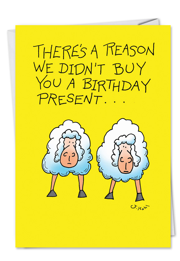 Too Sheep Hilarious Birthday Printed Card