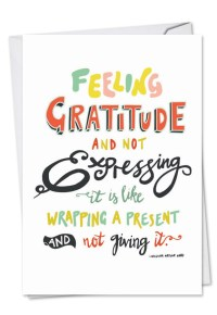 Words Of Appreciation - I: Creative Thank You Printed Card