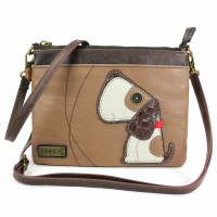 Brown Dog Mini Crossbody Purse