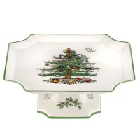 Christmas Tree Square Cake Plate by Spode