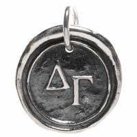 Delta Gamma Greek Society Sorority Charm by Waxing Poetic