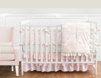 Blush Pink, Gold and White Amelia Baby Bedding - 9pc Girls ...