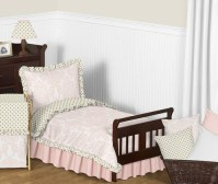 Blush Pink, Gold and White Amelia Toddler Bedding