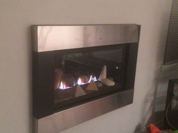 Empire Loft SeeThrough Direct Vent Gas Fireplace with RF Controls and Decorative Surround  36 Inch