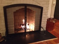 Pilgrim Old World Forged Iron Arched Fireplace Screen with ...