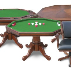Poker Table With Chairs Evenflo Expressions High Chair 3 In 1 Walnut Finish Game And Set