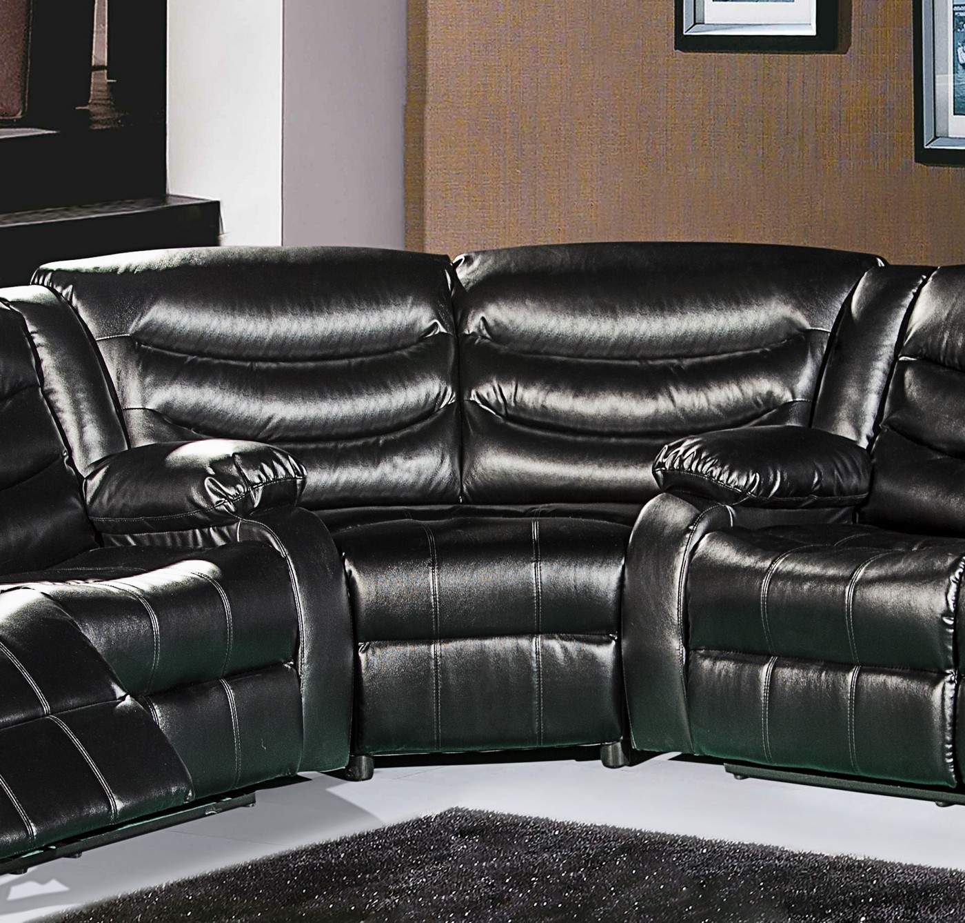 sectional sofa corner wedge pottery barn cover 644bl black leather