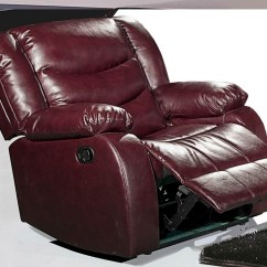 Burgundy Sofa And Loveseat Sam S Club Power Reclining 644burg Leather Rocker Chair With ...