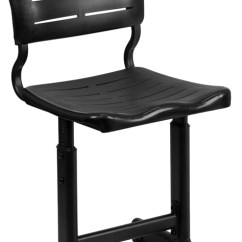 Adjustable Height Chairs Desk Chair Cad Block Black Student With Pedestal Frame Ebay Image Is Loading
