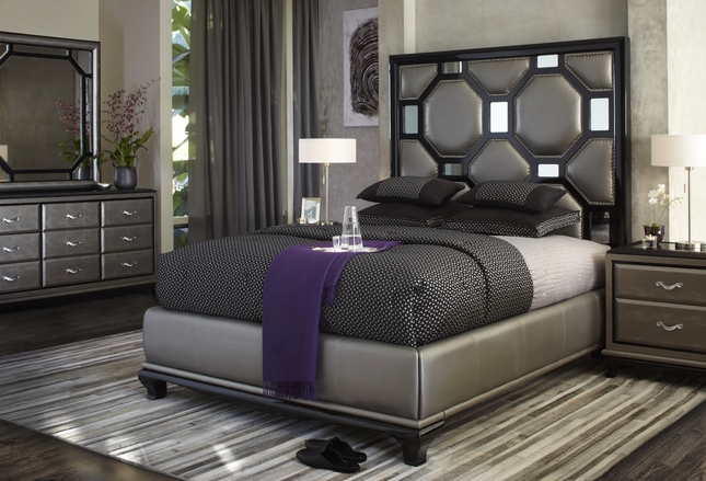 michael amini after eight modern upholstered bedroom furniture set