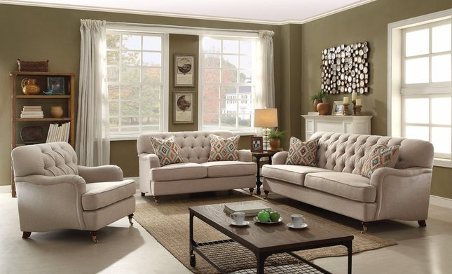 contemporary sofas and loveseats off white sectional aliza beige button tufted sofa loveseat set