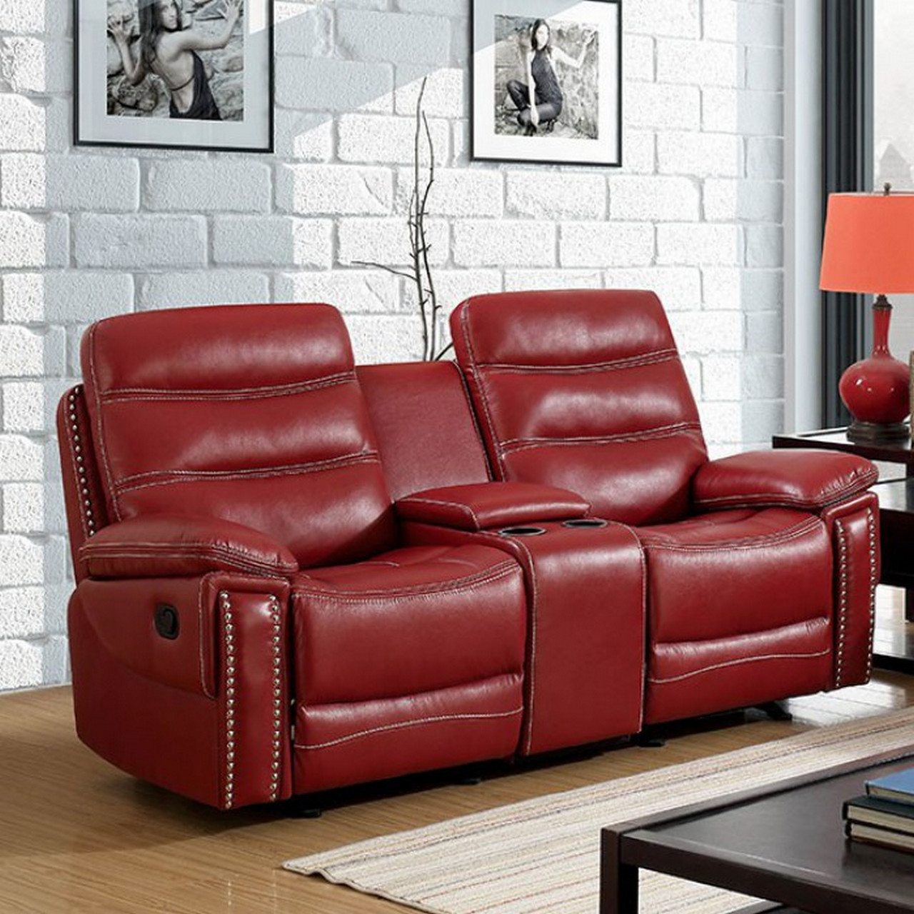 faux leather reclining sofa set innovation living review artemis contemporary red loveseat