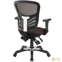 Brown Office Chairs Parsons Chair Covers Short Articulate Modern Adjustable Ergonomic Mesh