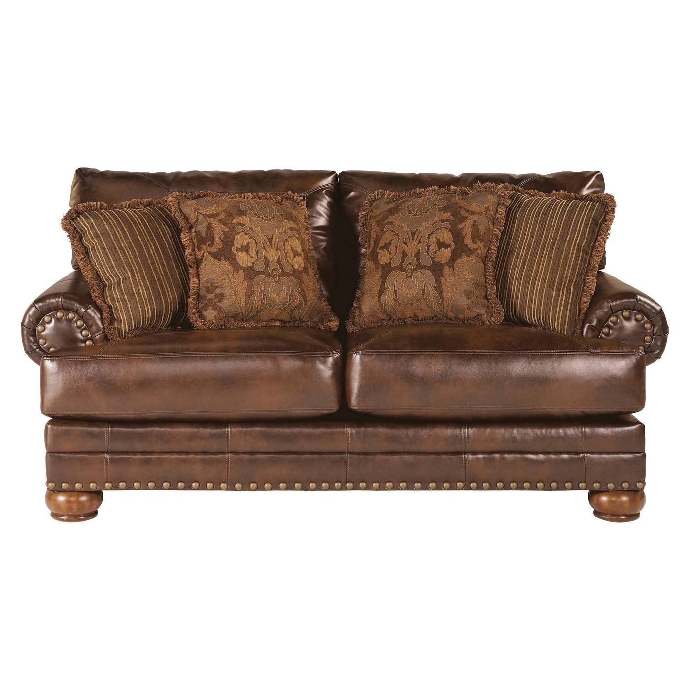 decorative pillows brown leather sofa i want to reupholster my loveseat ashley traditional living room