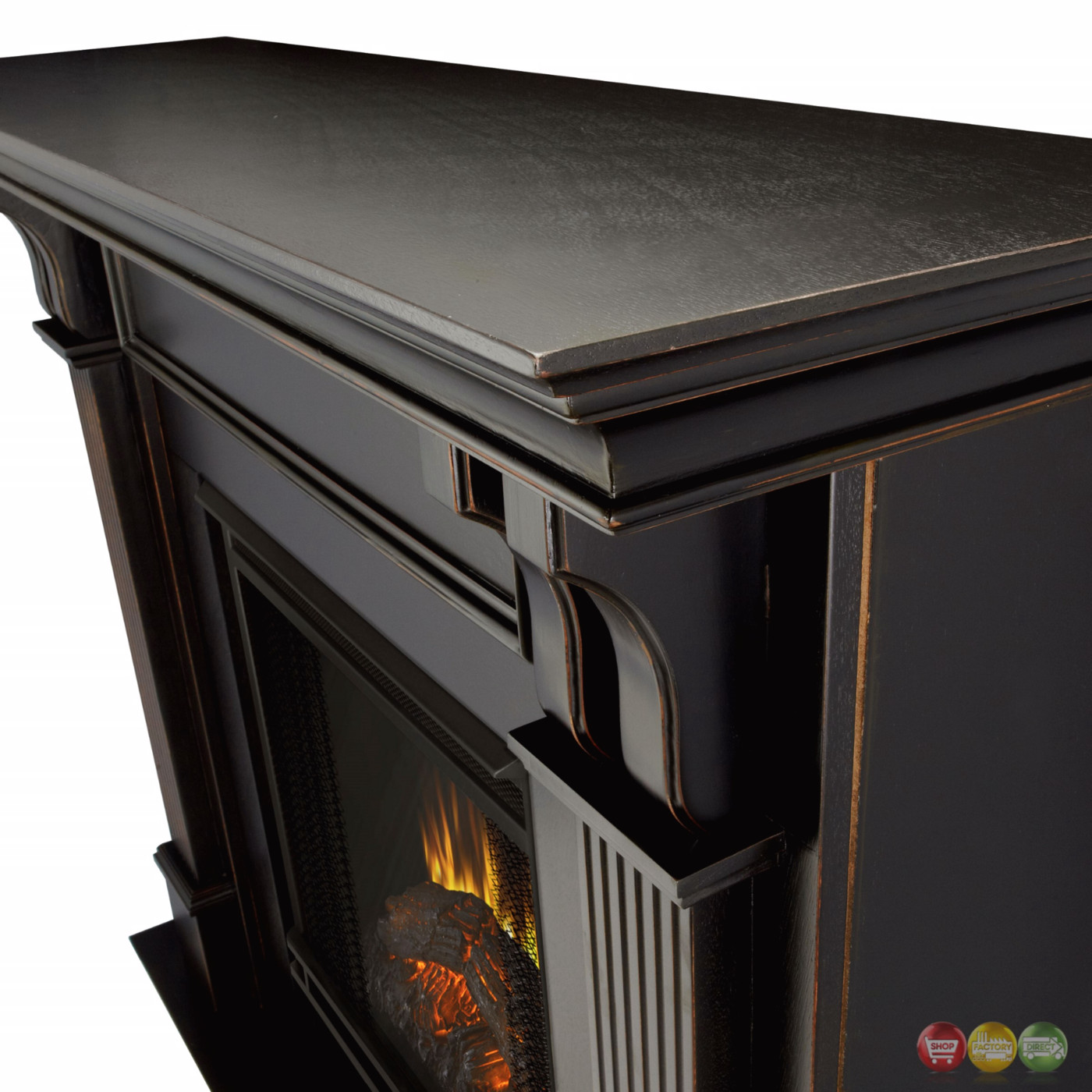 Ashley Indoor Electric Led Heater Fireplace In White
