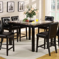 Atlas Tables And Chairs Contemporary Swivel Chair Ii Black Counter Height Dining Set With