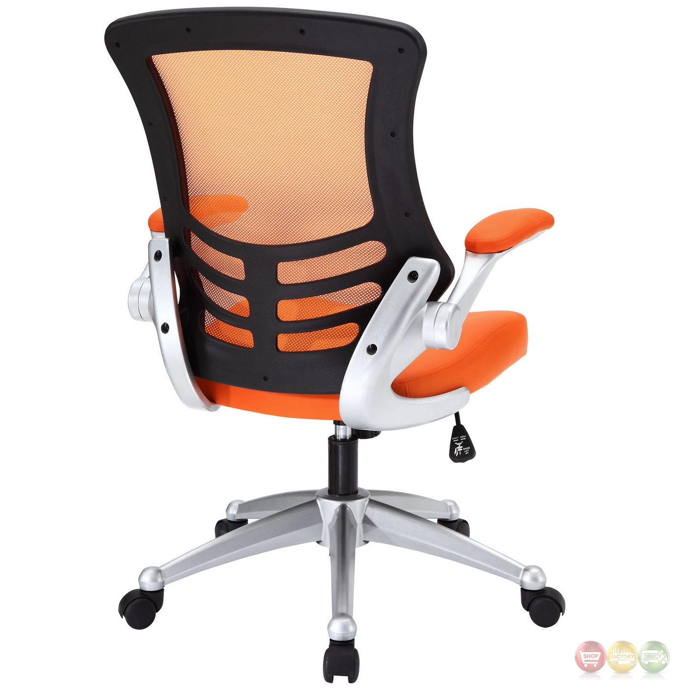 office chair orange massage chairs for sale attainment modern ergonomic mesh back w