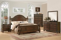 Augusta Traditional Walnut Finish Bedroom Furniture Set ...