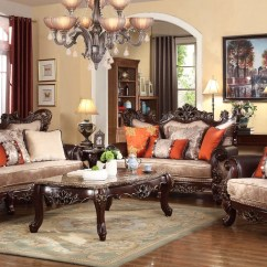 Simmons Sofa And Loveseat How To Make A Chair Frame Autumn Beige Victorian With Carved Wood ...