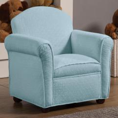 Kids Arm Chairs Sleeper For Small Spaces Baby Blue Fabric Upholstery Youth Accent Club Chair