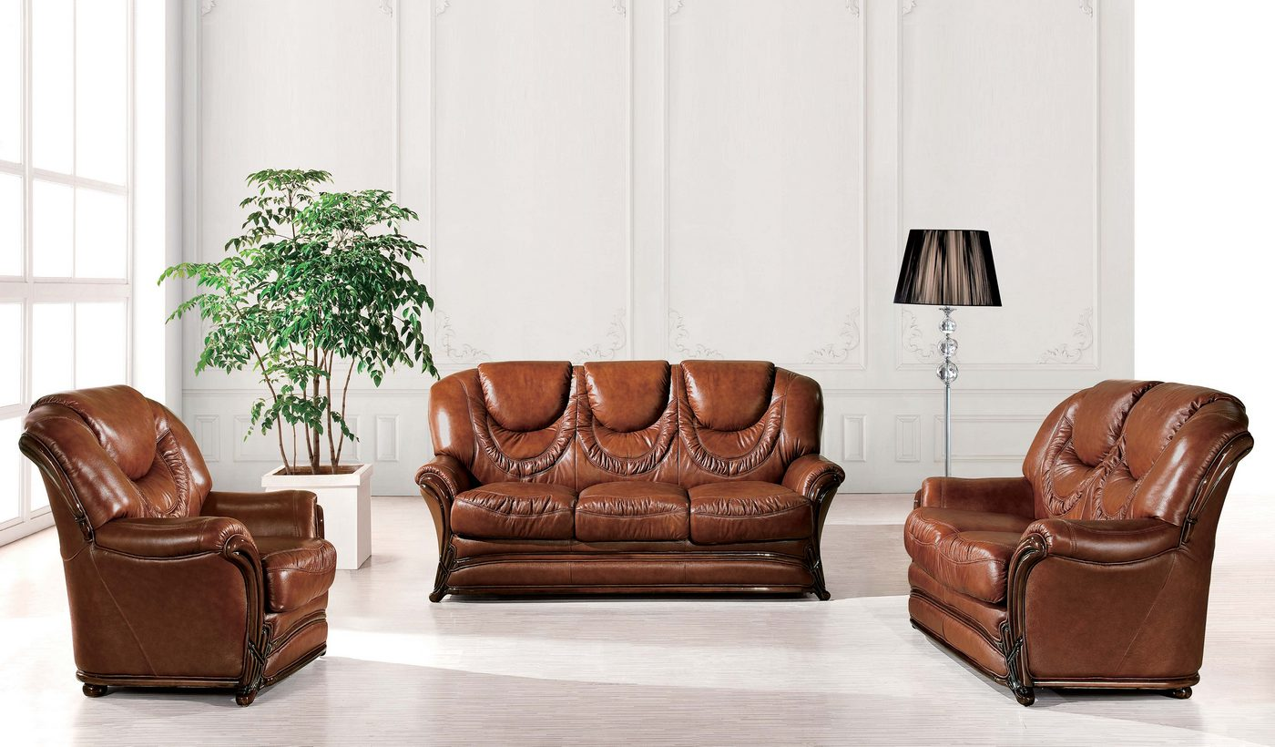 real leather sofa sets theater sleeper barletta traditional brown genuine italian