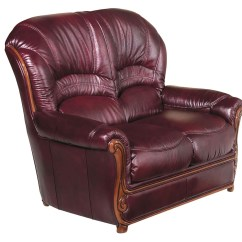 Classic Italian Leather Sofa Futon Style Pu Lounge Bed In Black Bella Burgundy Traditional And Loveseat