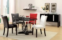 Belliz Contemporary Black Lacquer Table Casual Dining Set ...